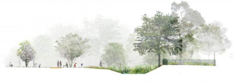 PoOla - architecture du paysage - Jardin écologique et berges restaurées de la Rampe à Saint Laurs la Rampière